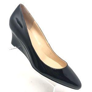 Cole Haan Catalina Wedge Black Patent Heel Sz 11 B